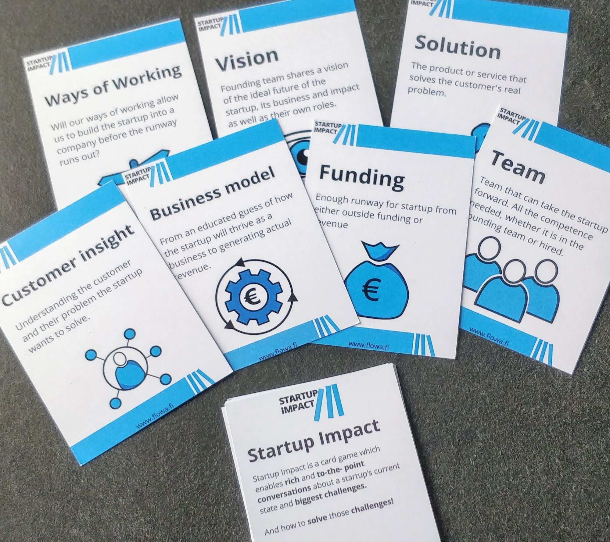 Photo of the Startup Impact cards